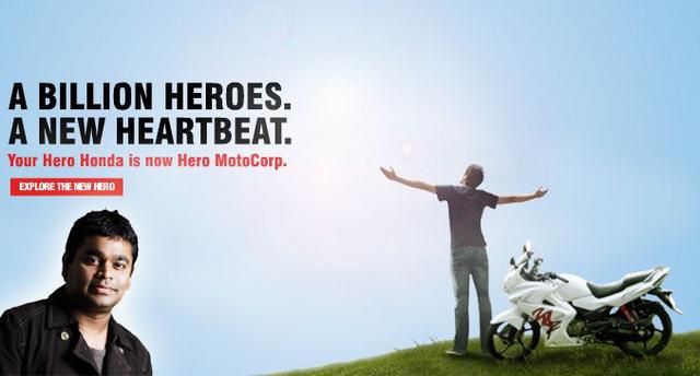 AR Rahman hero-moto-corp-bikes song